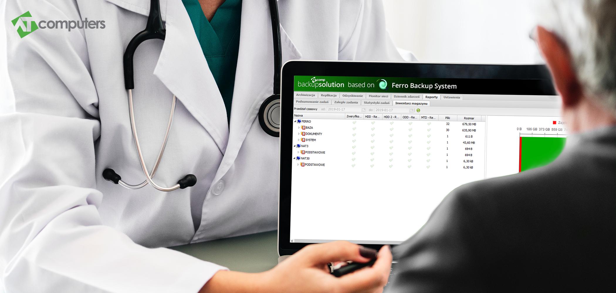 Backup danych dla placówek medycznych