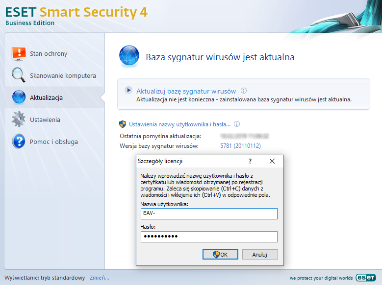 Wersja 4 - ESET Smart Security Business Edition