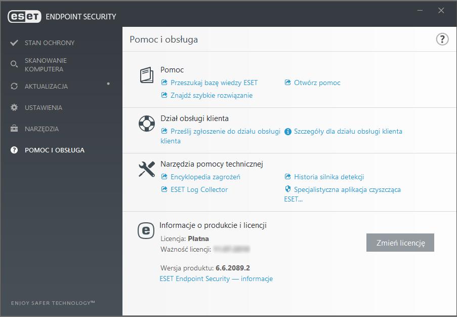 Wersja 6 Endpoint Security ESET